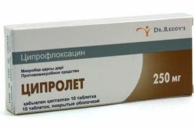 Устранение воспаления и предупреждение осложнений Ципролетом