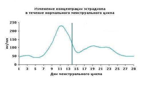 Эстрадиол в зависимости от дня цикла