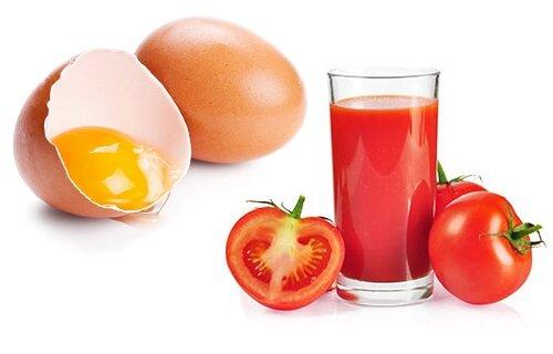 томатный сок с желтком